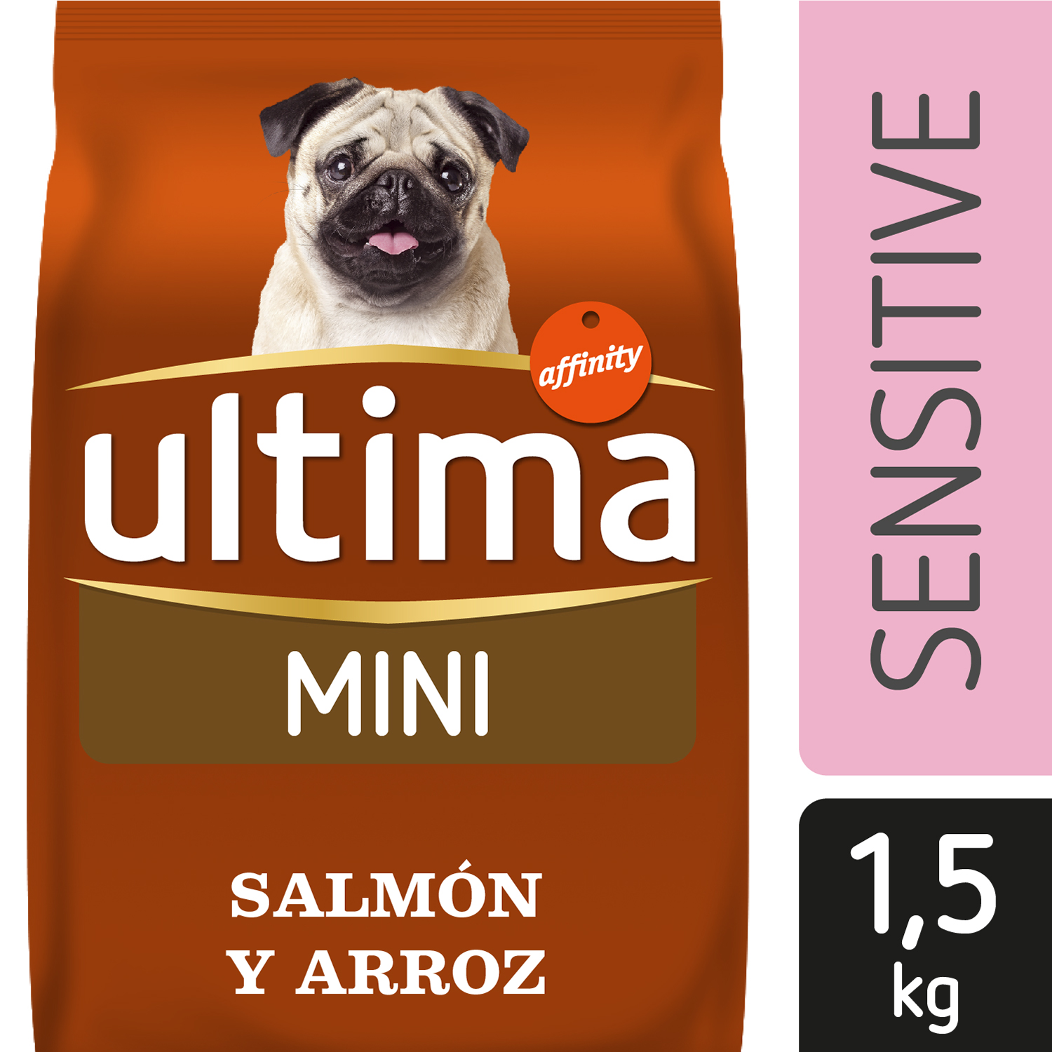 Ultima Pienso para Perro Adulto Mini Sensitive Sabor salmón 1,5kg. -
