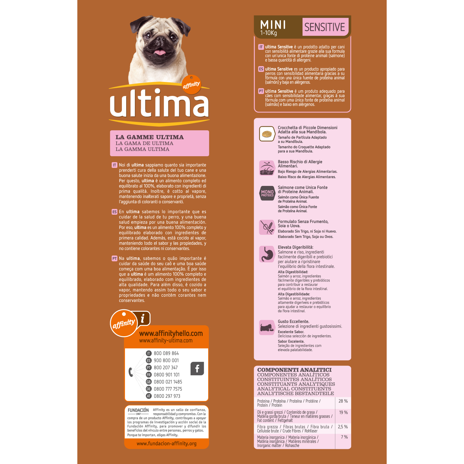 Ultima Pienso para Perro Adulto Mini Sensitive Sabor salmón 1,5kg. - 2