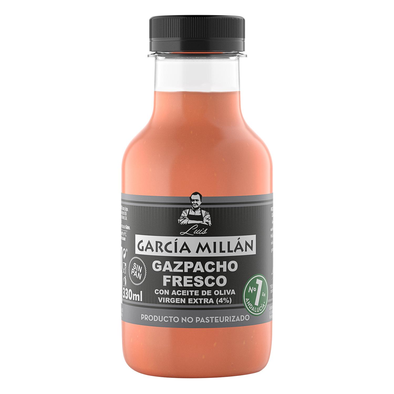 Gazpacho fresco con aceite de oliva virgen extra García Millán 330 ml.