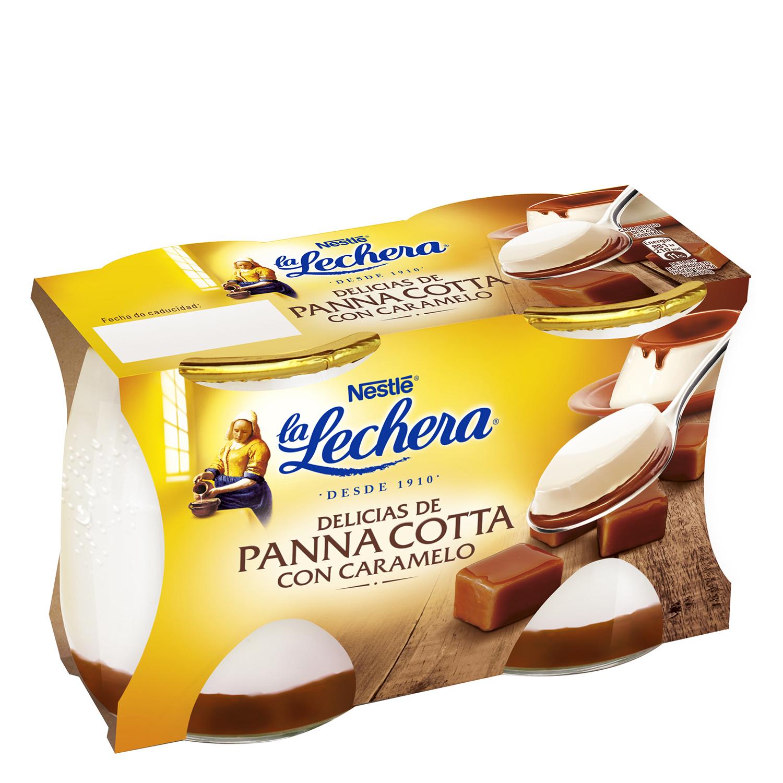 Panna Cotta con caramelo Nestlé La Lechera pack de 2 unidades de 125g.