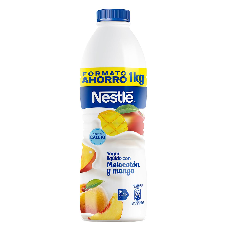 Yogur líquido con melocotón y mango Nestlé sin gluten 1 kg.