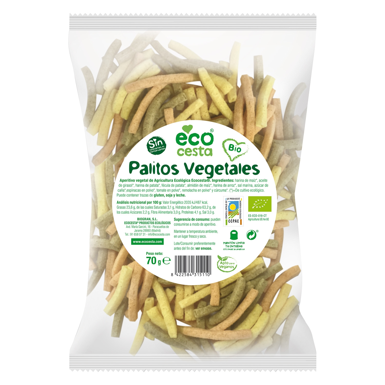Palitos vegetales Bio