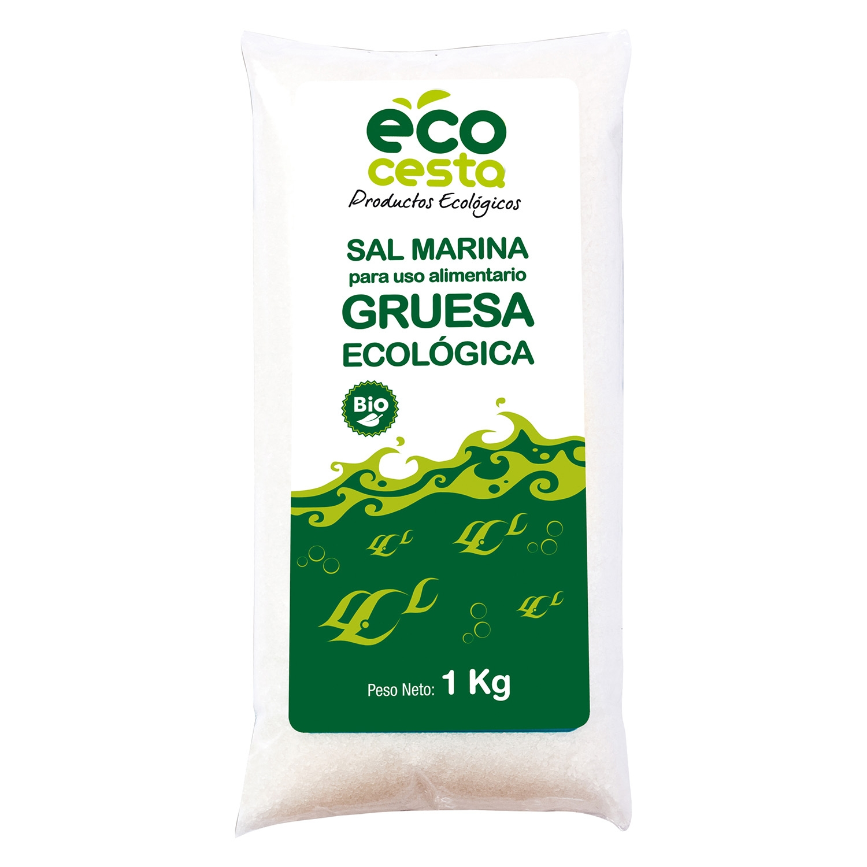 Sal marina gruesa ecológica Ecocesta 1 kg.