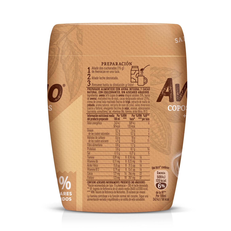 Avenacao copos de avena solubles con cacao natural 0% azúcares añadidos Cola Cao 350 g -