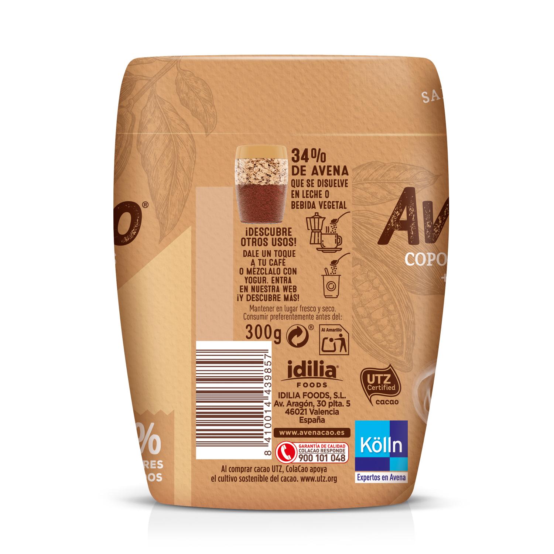 Avenacao copos de avena solubles con cacao natural 0% azúcares añadidos Cola Cao 350 g - 2