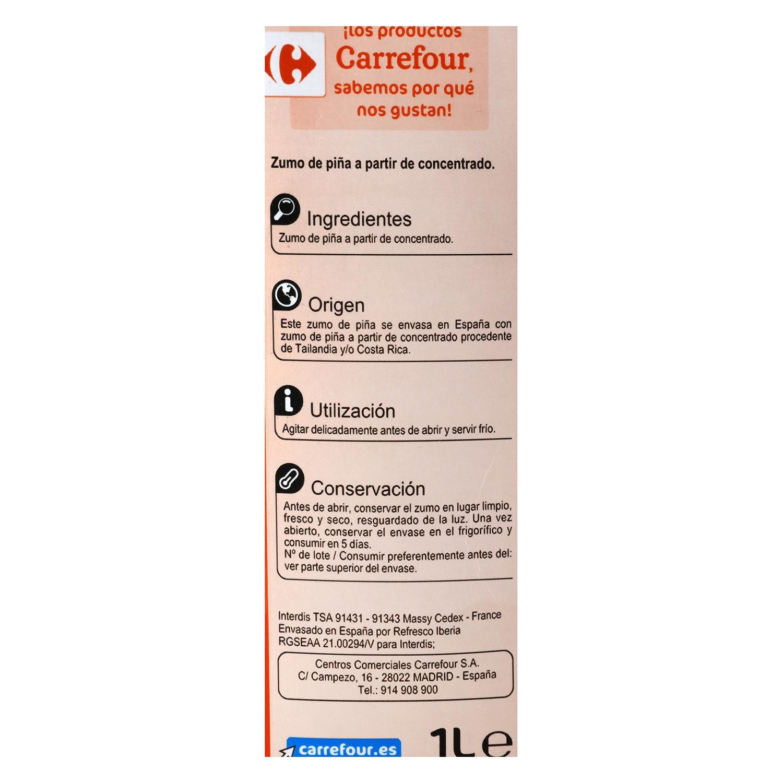 Zumo de piña Carrefour brik 1 l. - 2