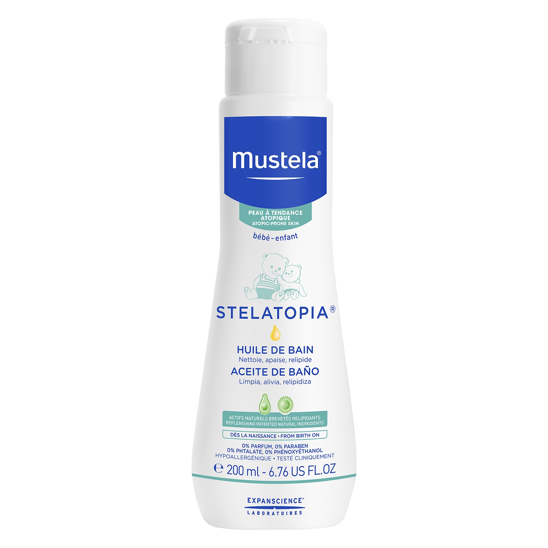 Aceite de baño Stelatopia-Mustela 200 ml.
