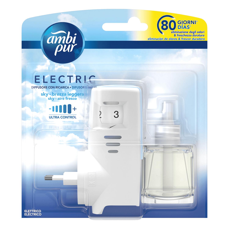Ambientador eléctrico con recambio aire fresco Ambipur 1 ud.