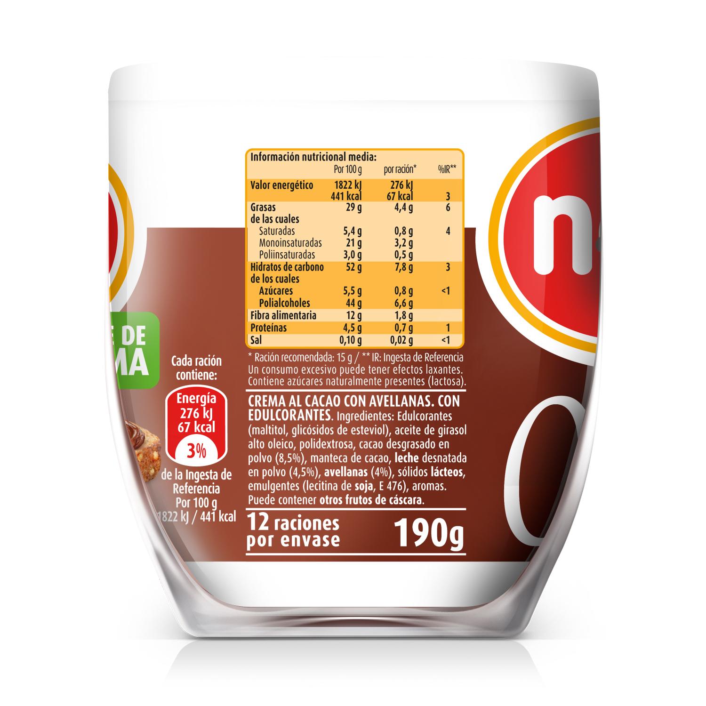 Crema de cacao con avellanas con stevia Nocilla 190 g. -