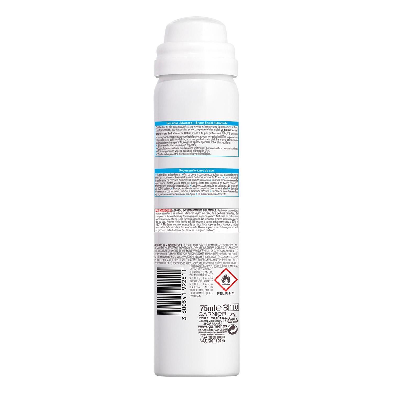 Bruma facial hidratante Sensitive Advanced FP 50 Delial 75 ml. -