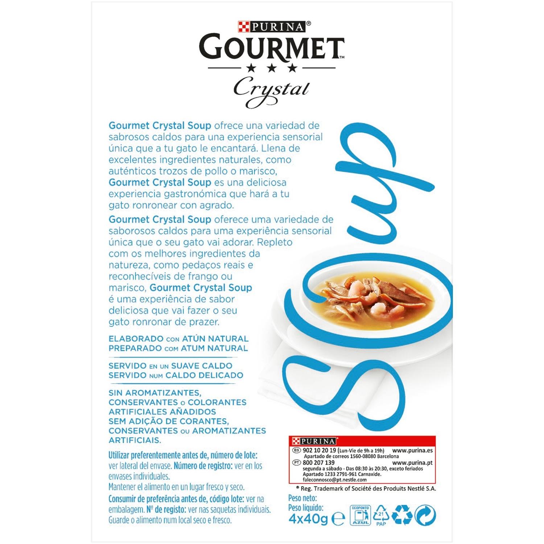 Purina Gourmet Crystal Soup Comida para Gato Atun Natural y Gambas 4x40g - 2