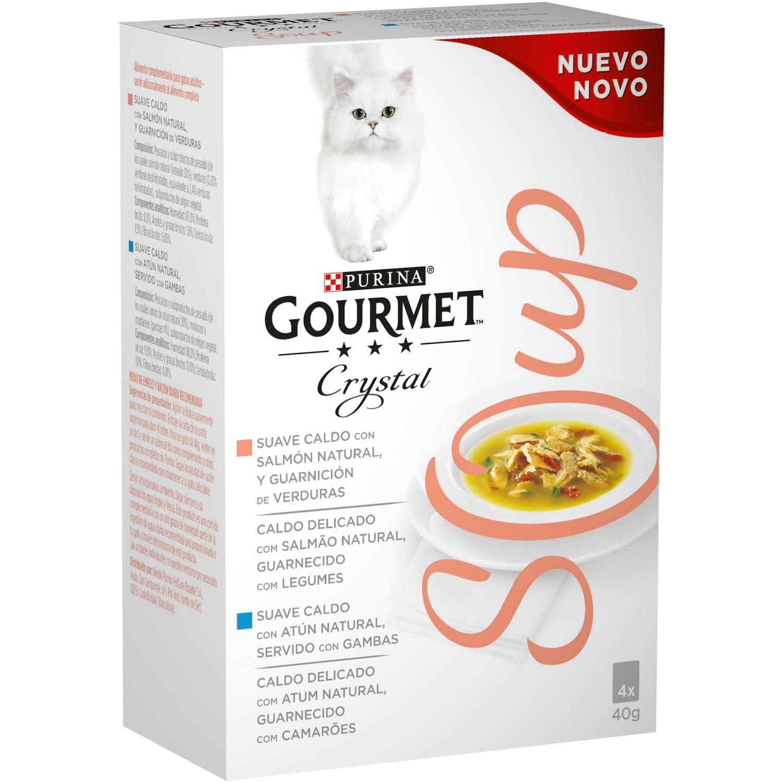 Comida para gatos en Sopa con Salmón Natural y Atún Natural