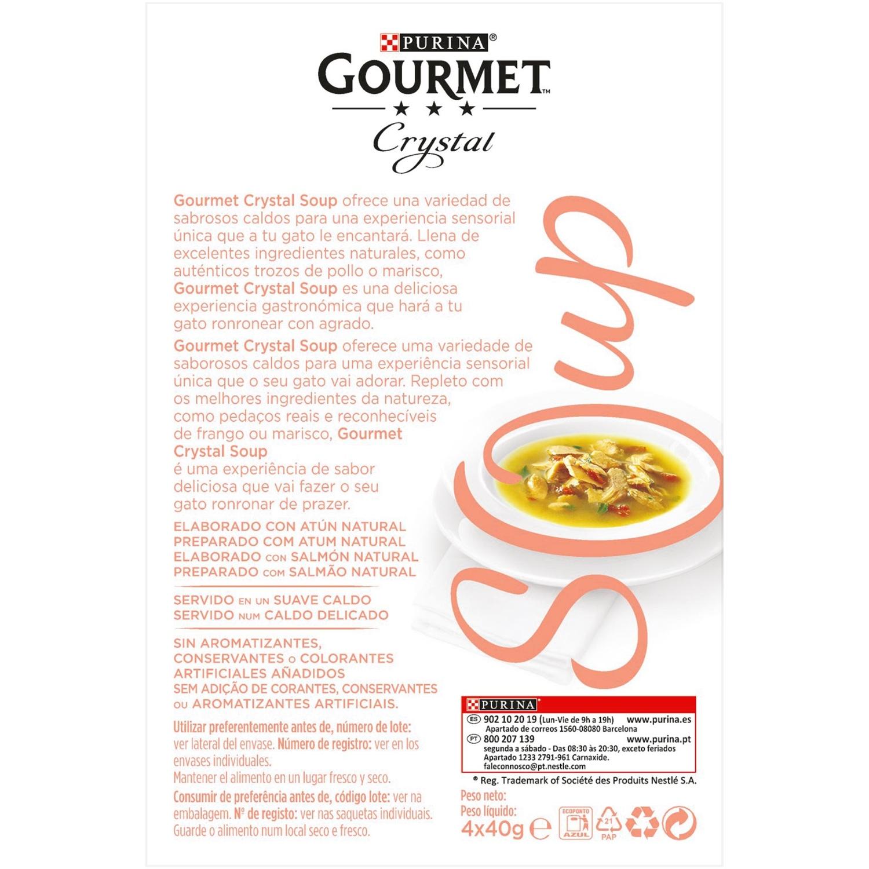 Comida para gatos en Sopa con Salmón Natural y Atún Natural - 2