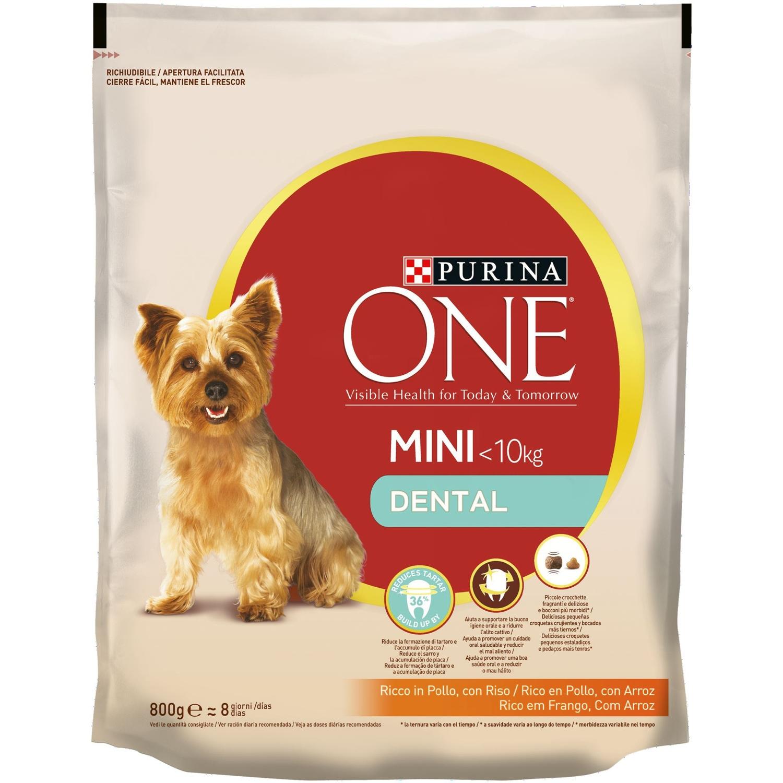 Comida para perros Mini Dental con Pollo y Arroz One Mini ...