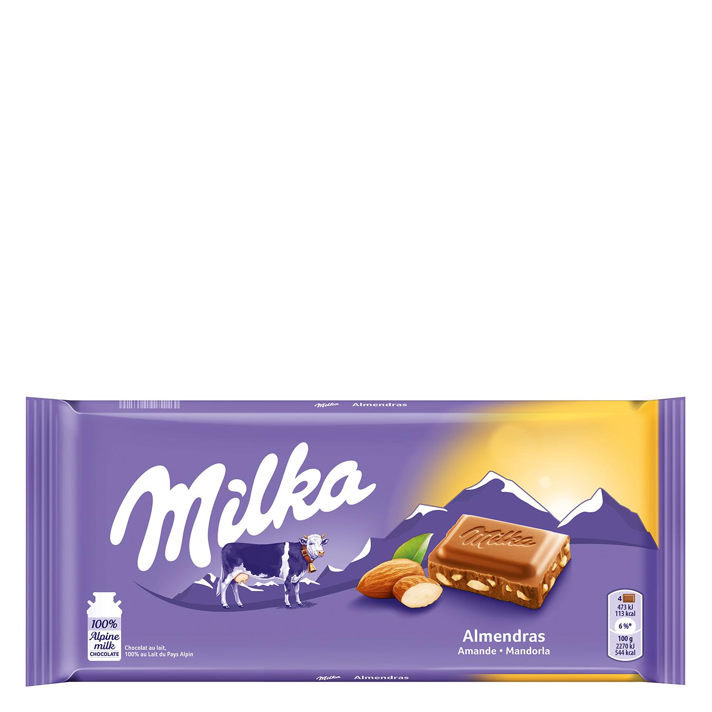 Chocolate extrafino con leche relleno de almendras