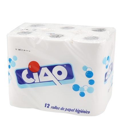 Papel higiénico Ciao 12 rollos.