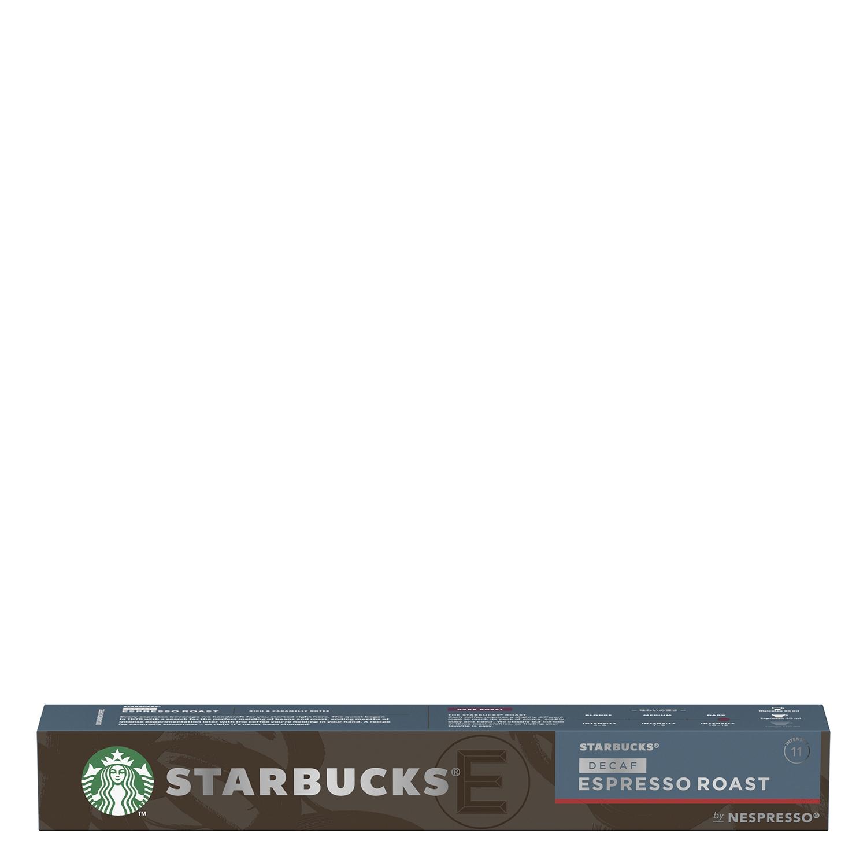 Café espresso tostado descafeinado en cápsulas Starbucks compatible con Nespresso 10 unidades de 5,7 g.
