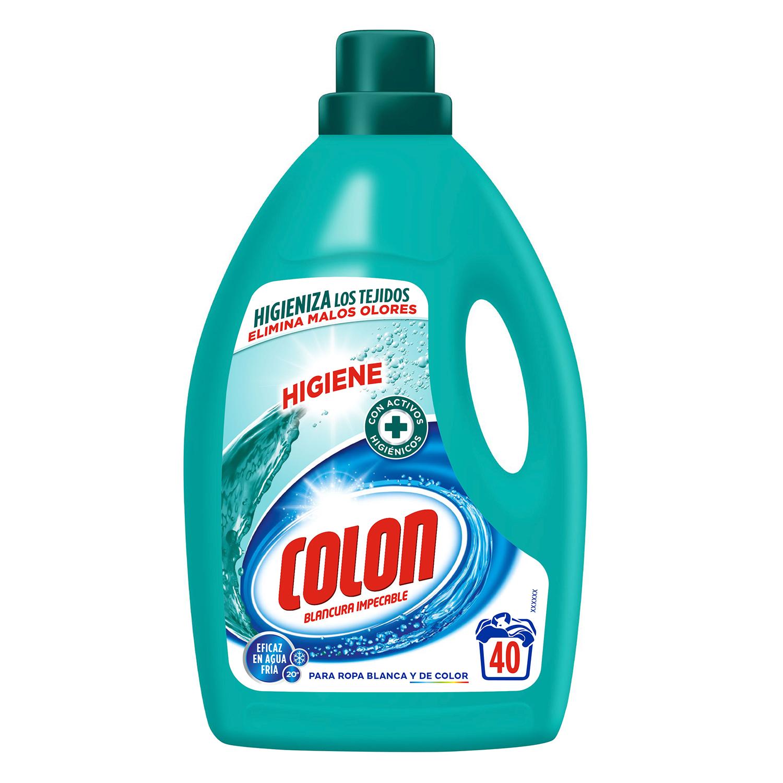 Detergente líquido higiene Colon 40 lavados.