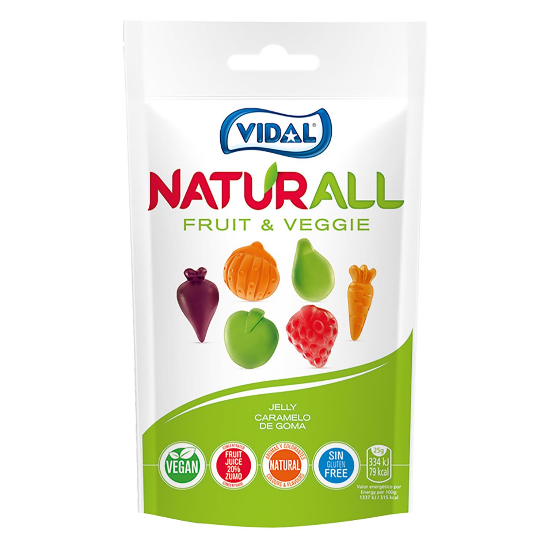 Caramelos de goma fruit & Veggie Naturall Vidal sin gluten