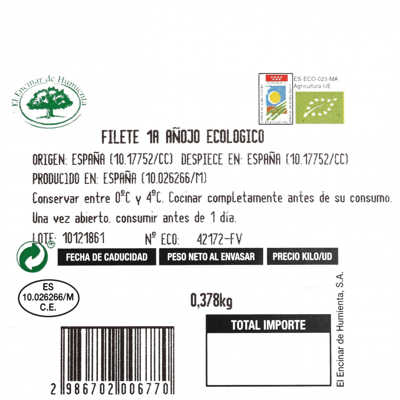 Filete 1ªA de Añojo Ecológico El Encinar de Humienta 400 g - 3
