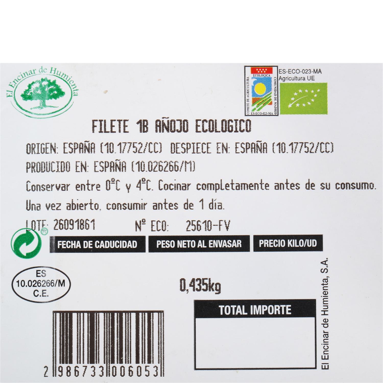 Filete 1ªB de Añojo Ecológico El Encinar de Humienta 450 g - 4