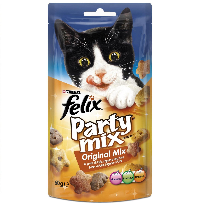Snack para gatos Party Mix Original Mix