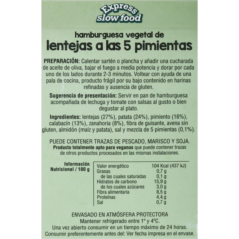Base vegetal lenteja 5 pimientas 180 g - 3