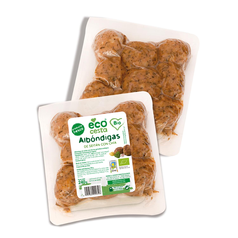 Albóndigas seitan ecológicas Ecocesta 240 g.