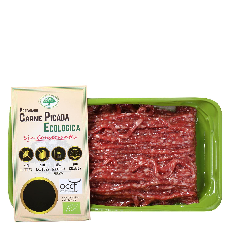 Preparado de Carne Picada de Vacuno Ecológica El Encinar de Humienta 400 g  - 2