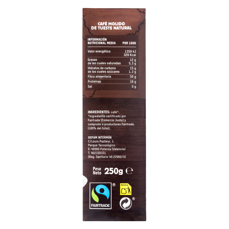 Café molido natural Oxfam Intermón 250 g. -