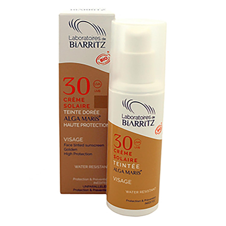 Crema solar facial de color SPF 30 Bio