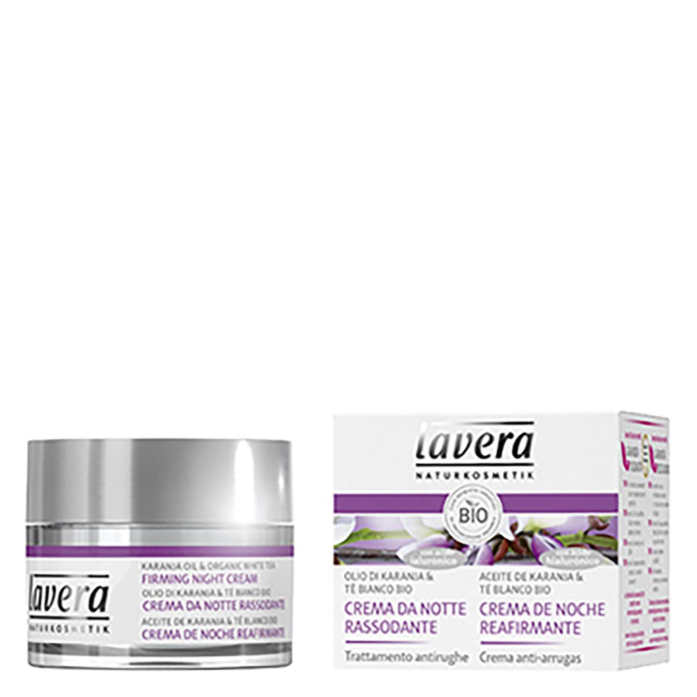 Crema de noche reafirmante anti-arrugas ecológica Lavera 50 ml.