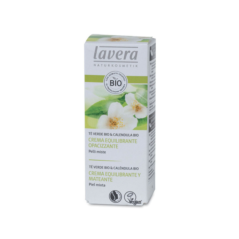 Crema equilibrante matificante ecológica Lavera 50 ml.