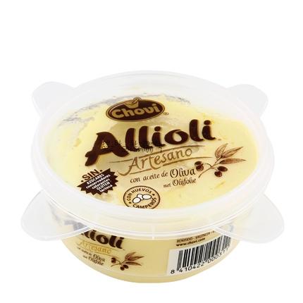Salsa alioli con aceite de oliva Chovi envase 150 g.