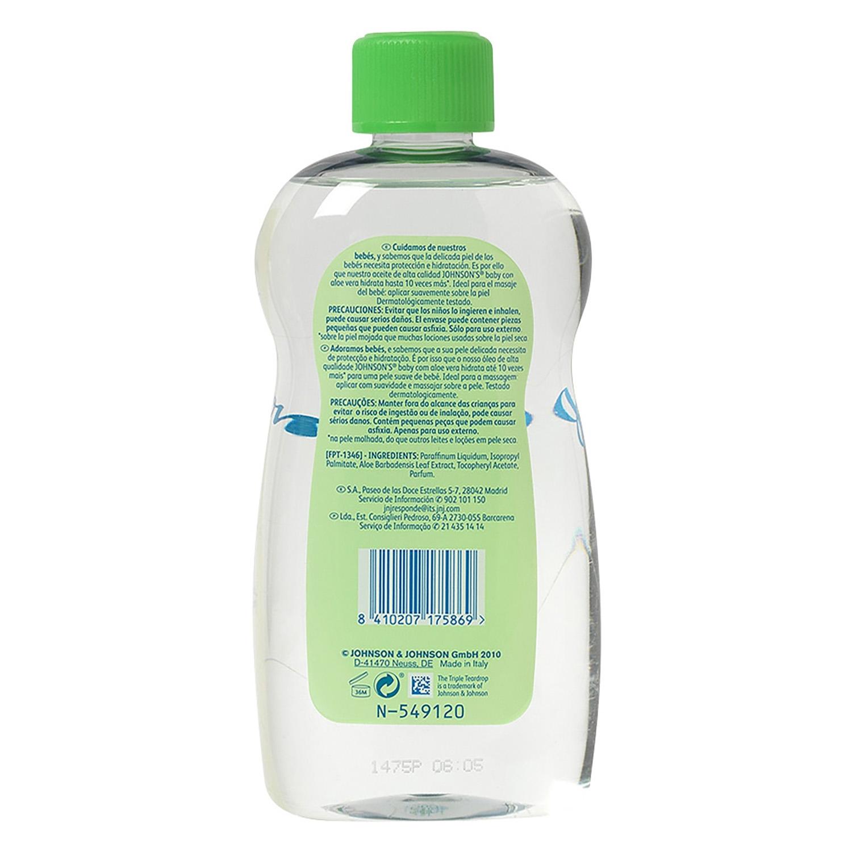 Aceite corporal hidratante Aloe Vera Johnson's Baby 500 ml. - 2