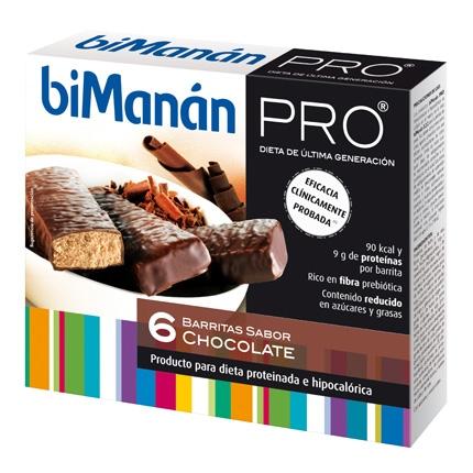 Barritas de sabor chocolate Bimanán 162 g.