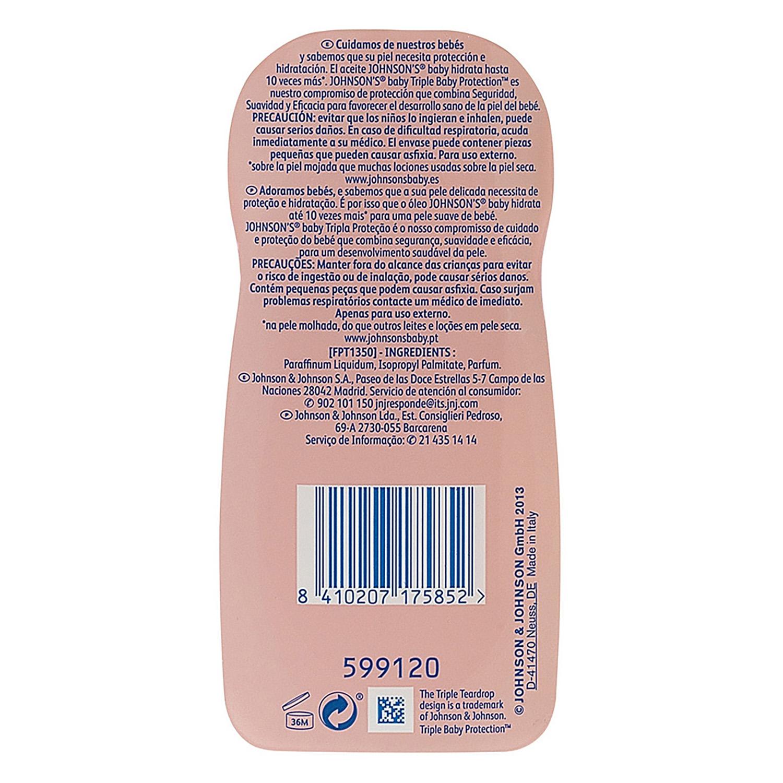 Aceite corporal hidratante Johnson's Baby 500 ml. -