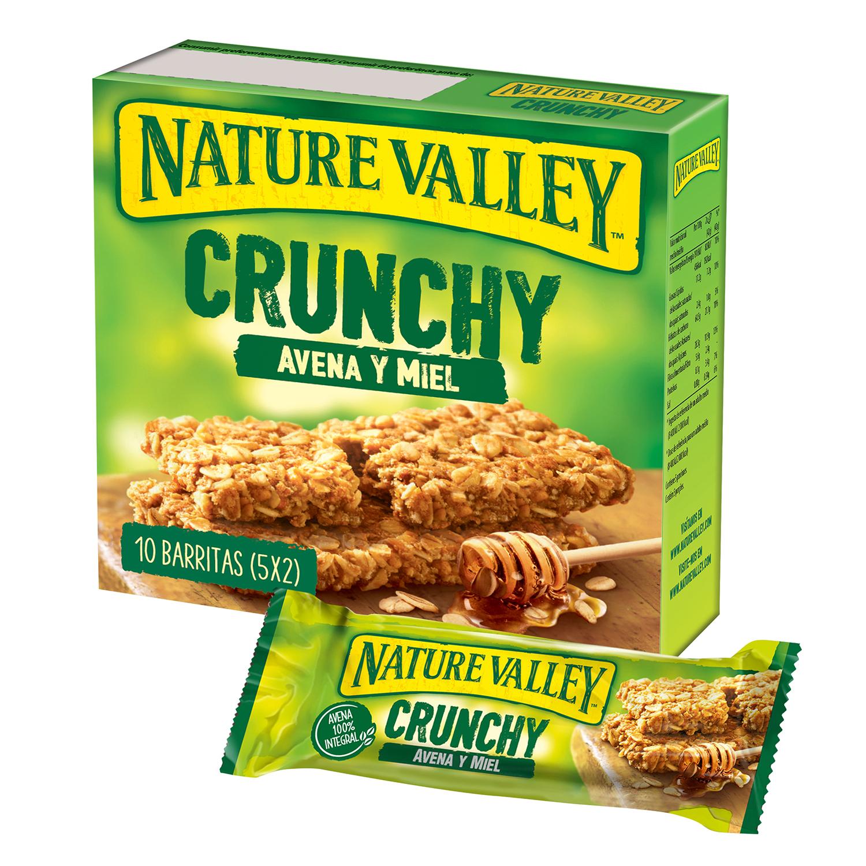 Barritas de avena y miel Crunchy Nature Valley 10 unidades de 21 g.