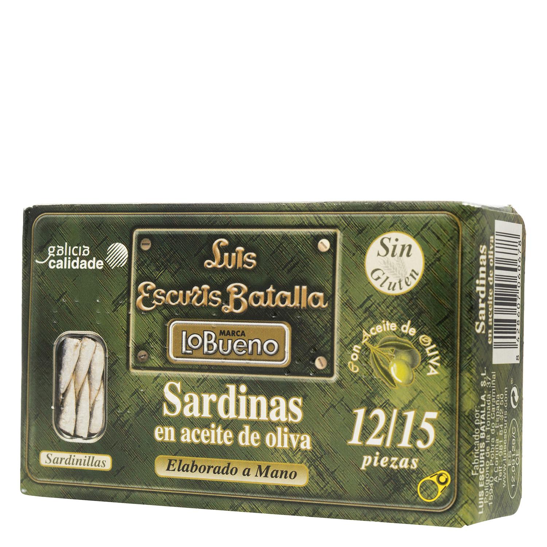 Sardinas en aceite de oliva 12/15 -