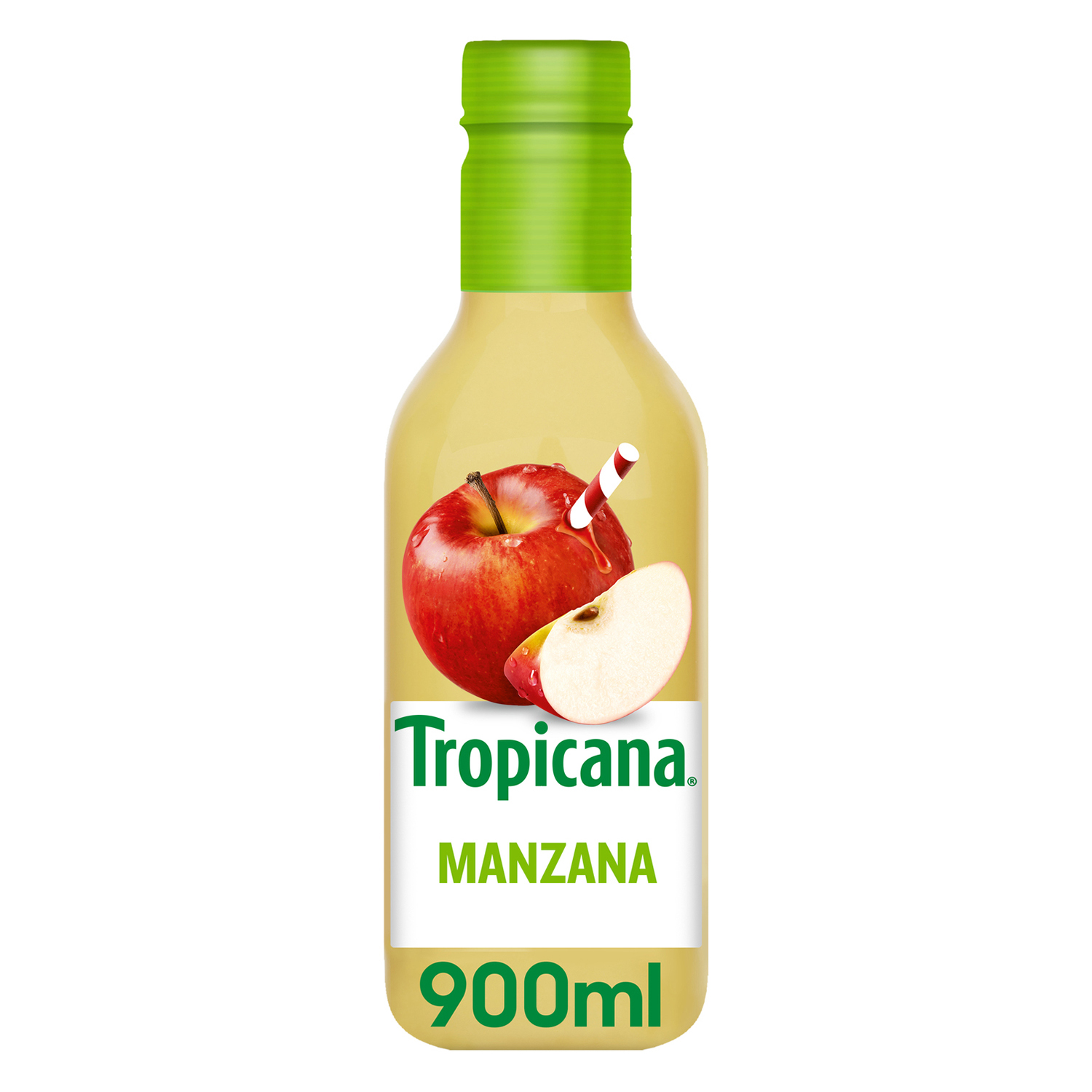 Zumo de manzana Tropicana botella 900 ml.
