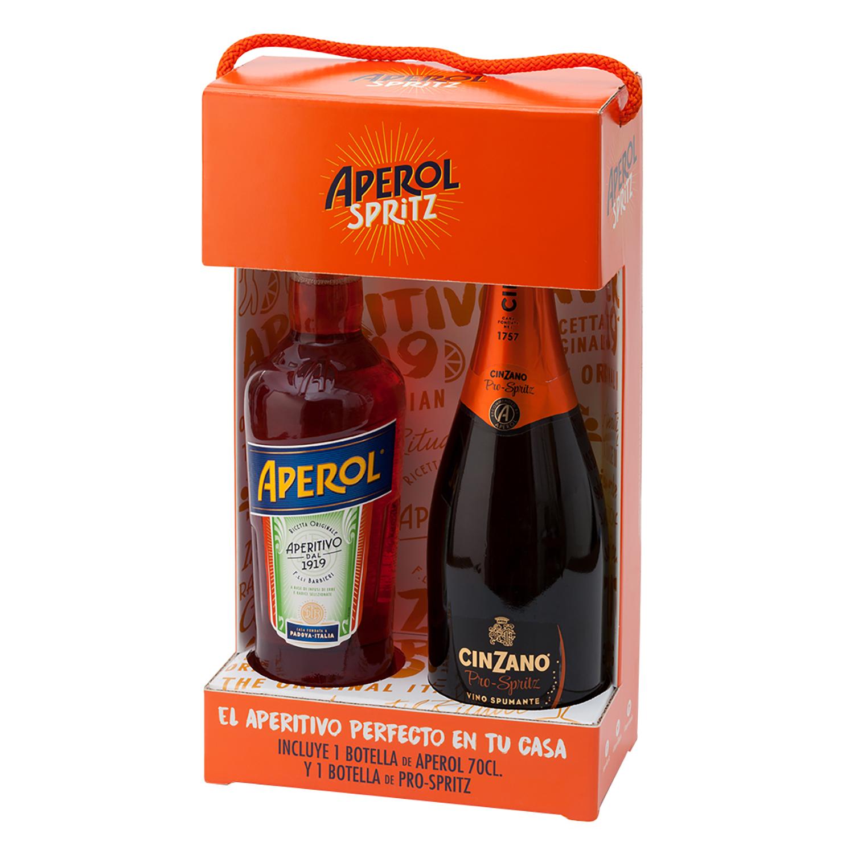 Vermut Aperol 70 cl. + Vino espumoso Cinzano Pro Soritz 75 cl.