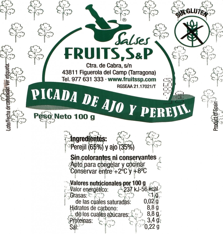 Picada de ajo y perejil Fruits S&P 100 g - 2