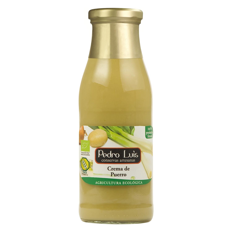 Crema de puerro ecológica Pedro Luis 500 ml.
