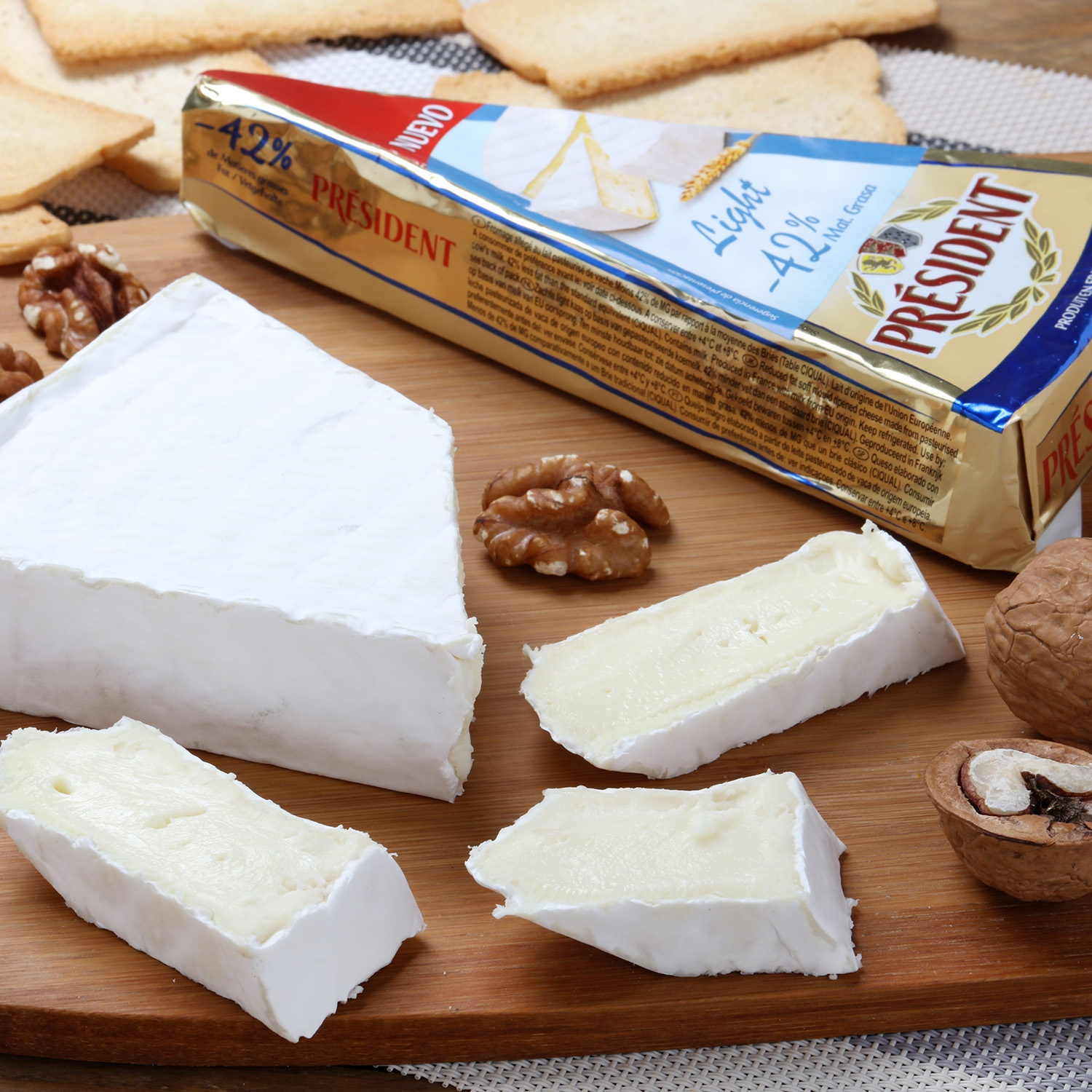 Queso brie light President cuña 200 g - 5