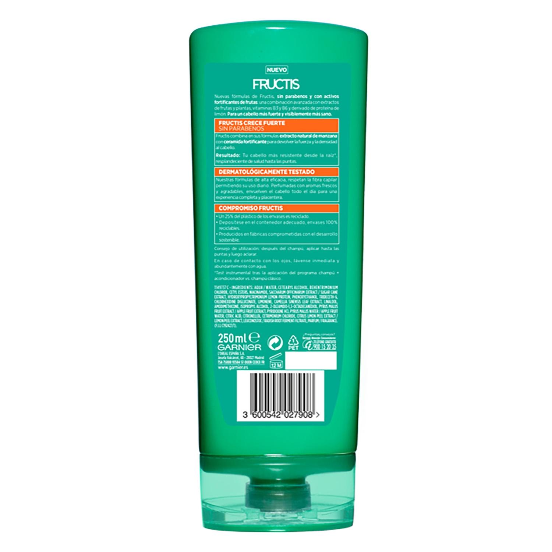 Acondicionador fortificante Crece Fuerte para cabello frágil Garnier-Fructis 250 ml. -