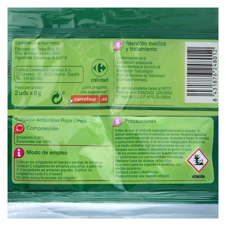 Colgador Antipolillas perfume Ropa Limpia - 2