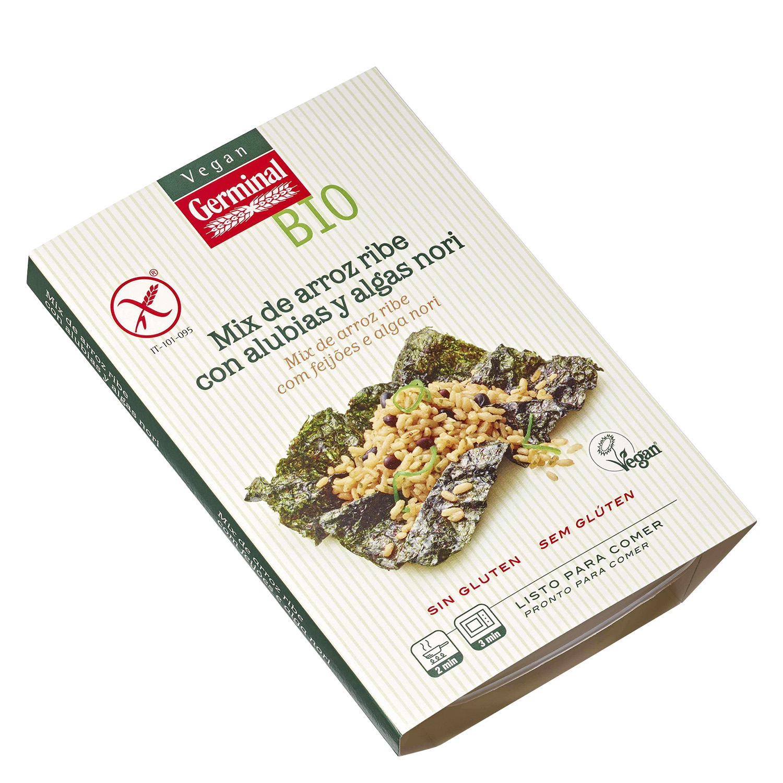 Mix de arroz ribe con alubias y algas nori sin gluten Bio