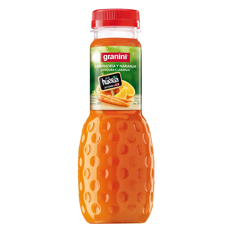 Néctar de zanahoria y naranja Granini botella 33 cl.