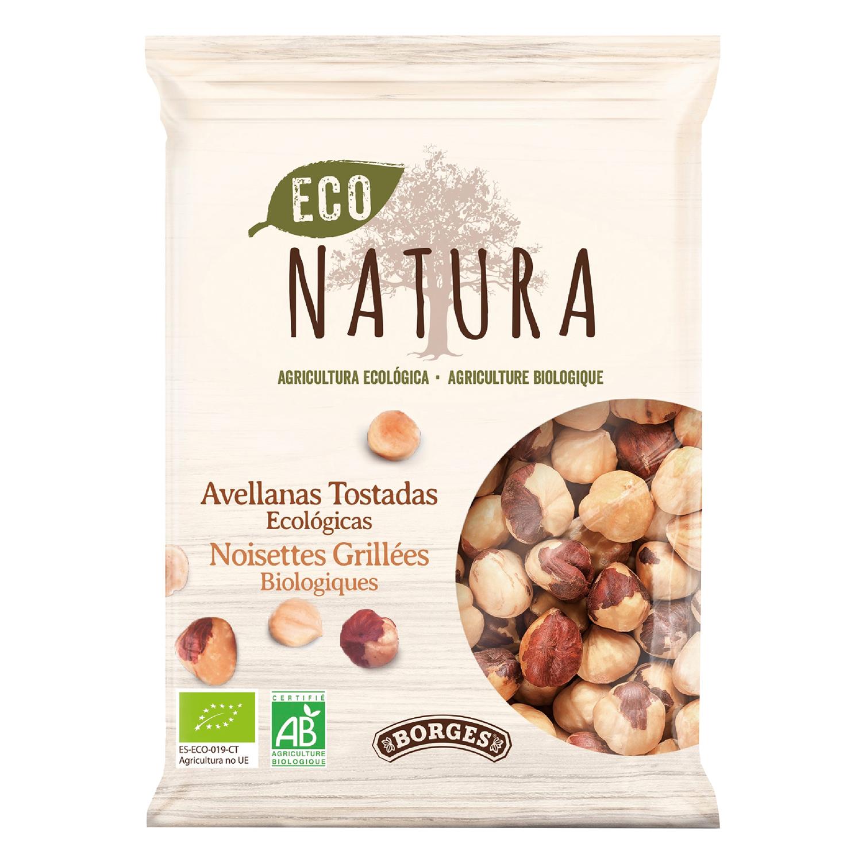 Avellanas tostadas ecológicas Natura Borges 100 g.