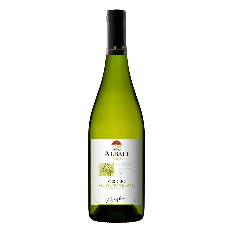 Vino de la tierra de Castilla blanco verdejo Sauvignon Blanc Viña Albali 75 cl.